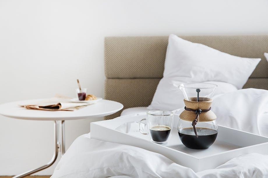 kaffebrygger til rigtig kaffe er en filterkaffe med kork