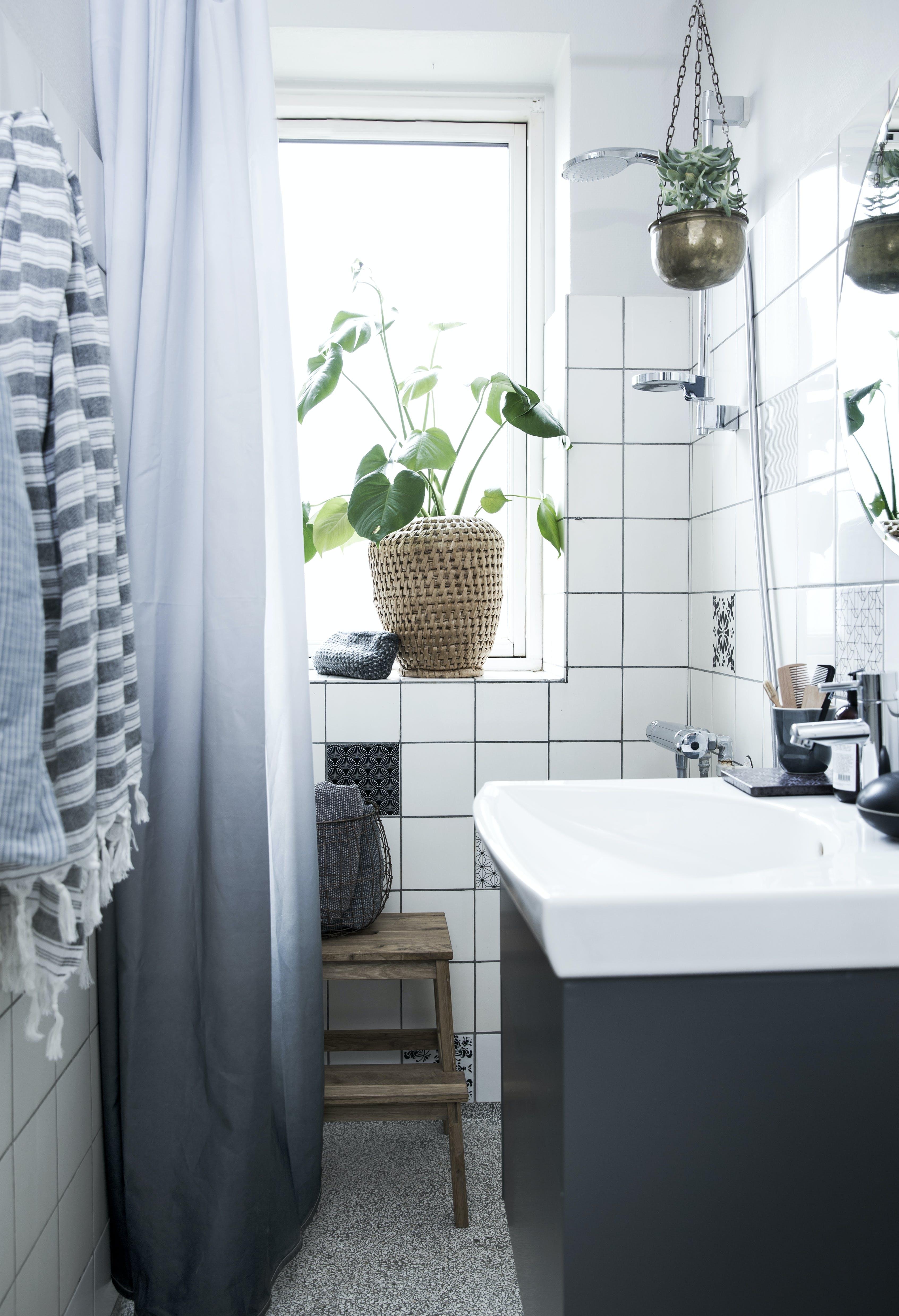 Badeværelse, som Mette Helena Rasmussen har hjulpet med at indrette.