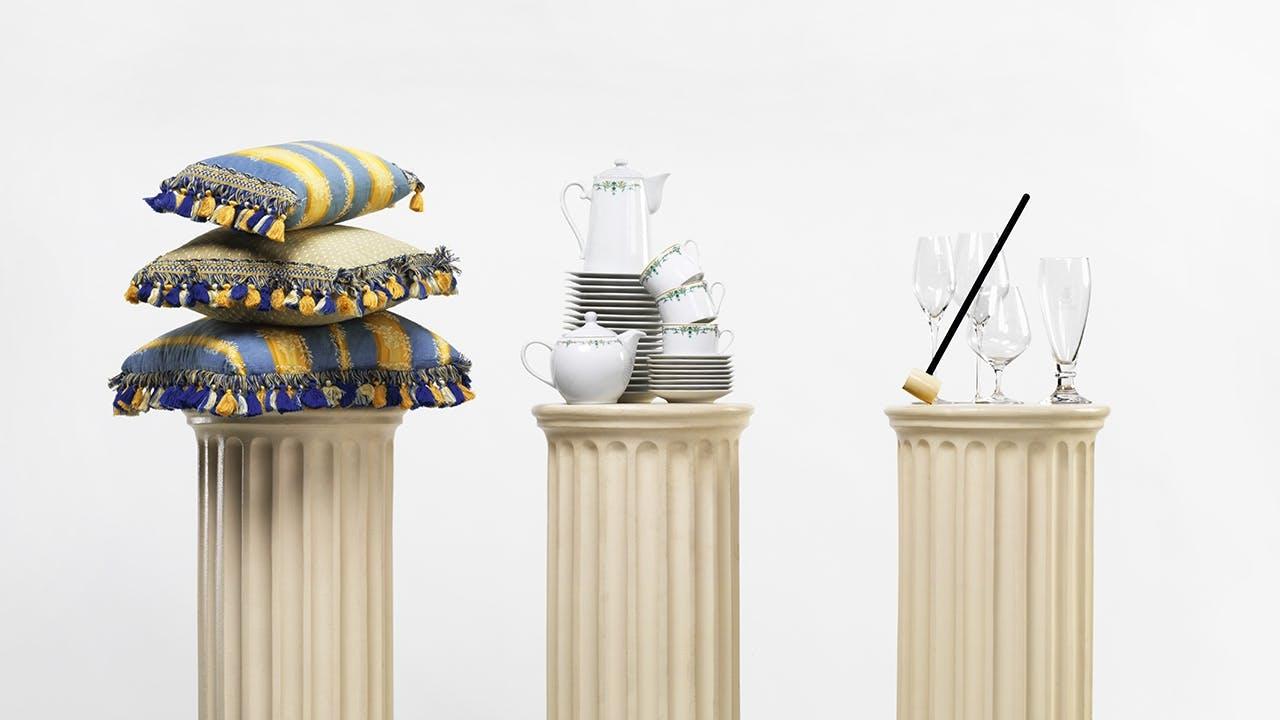 auktion hotel ritz pude service tekande kaffekande paris