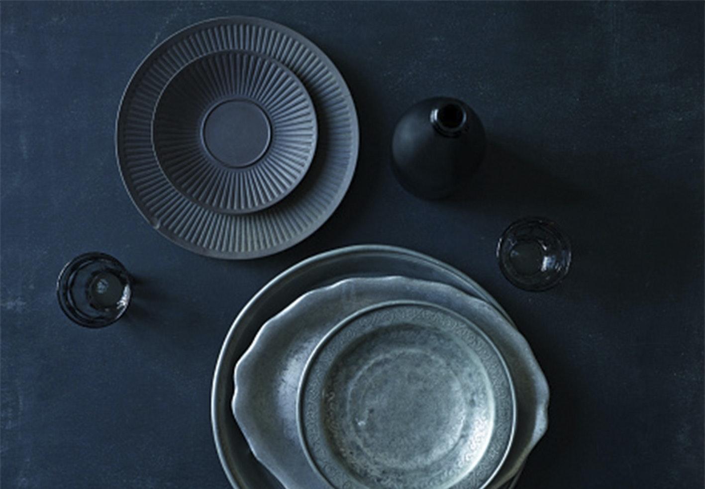 borddækning grå service