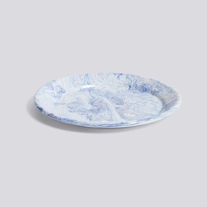 hay soft ice dinner plate blå