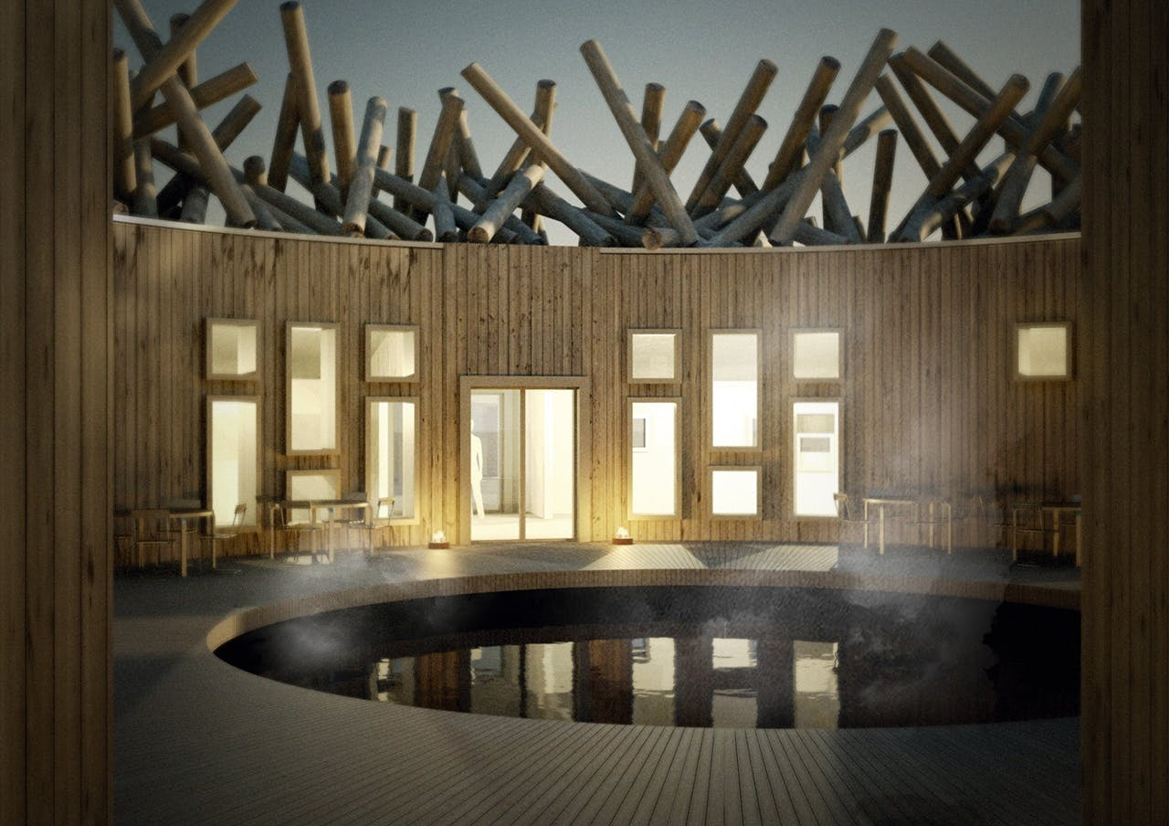 wellness artic bath koldbad vinterbadning treehotel sauna saunaområde