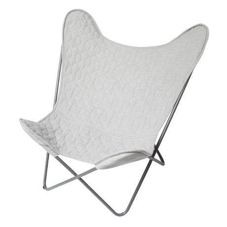 sebra flagermusstol grå butterflychair