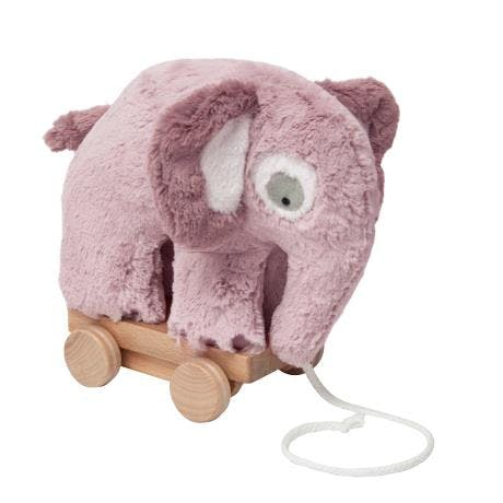 sebra elefant trækelefant rosa lyserød