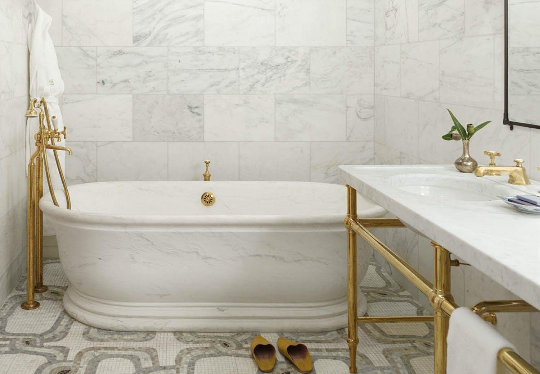 The Greenwich Hotel bathroom marble