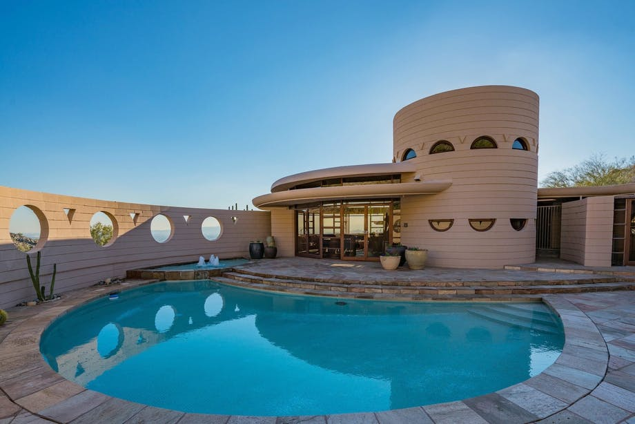 frank lloyd wright svømmepøl swimming pool arizona