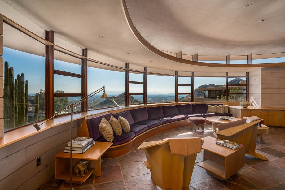 frank lloyd wright arizone stue living room