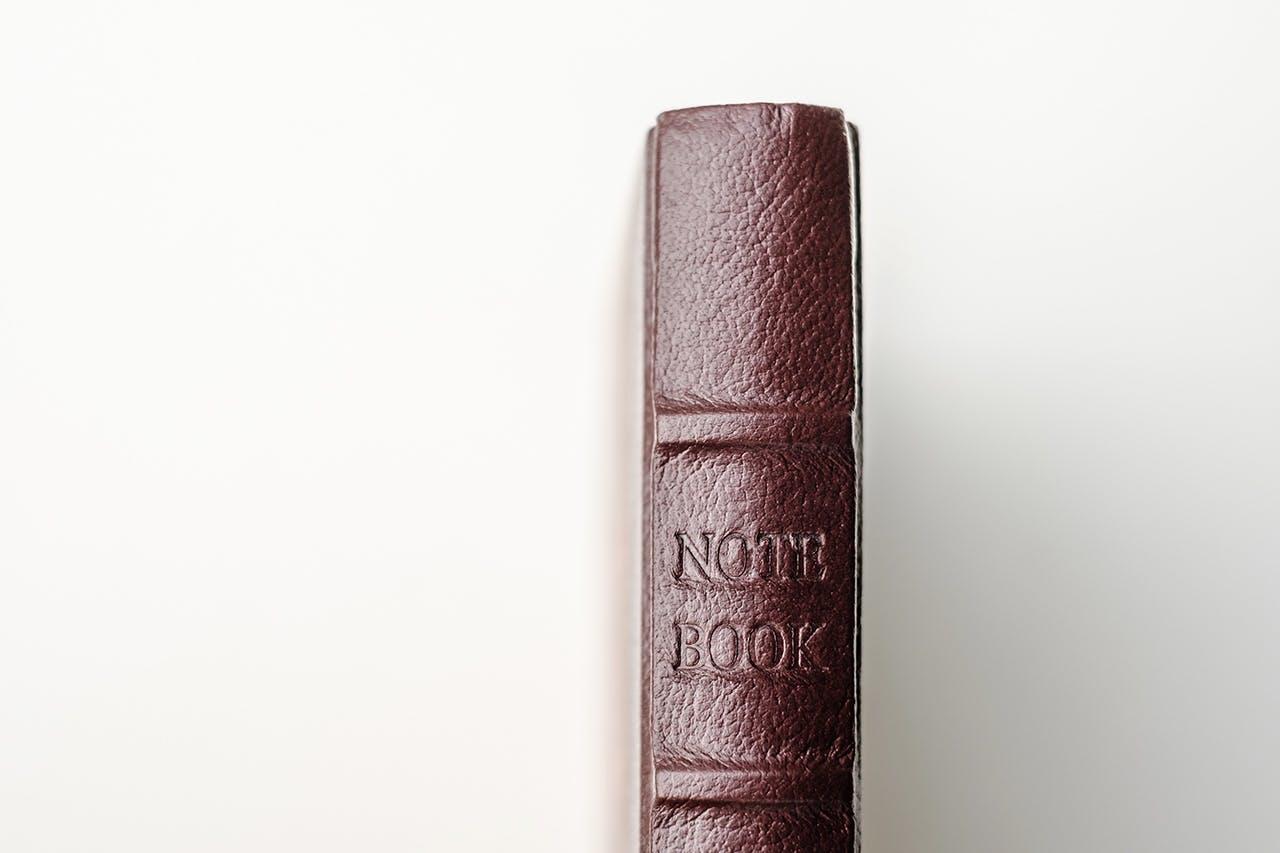 notesbog håndskrift læderindbunden Nordic Notebook