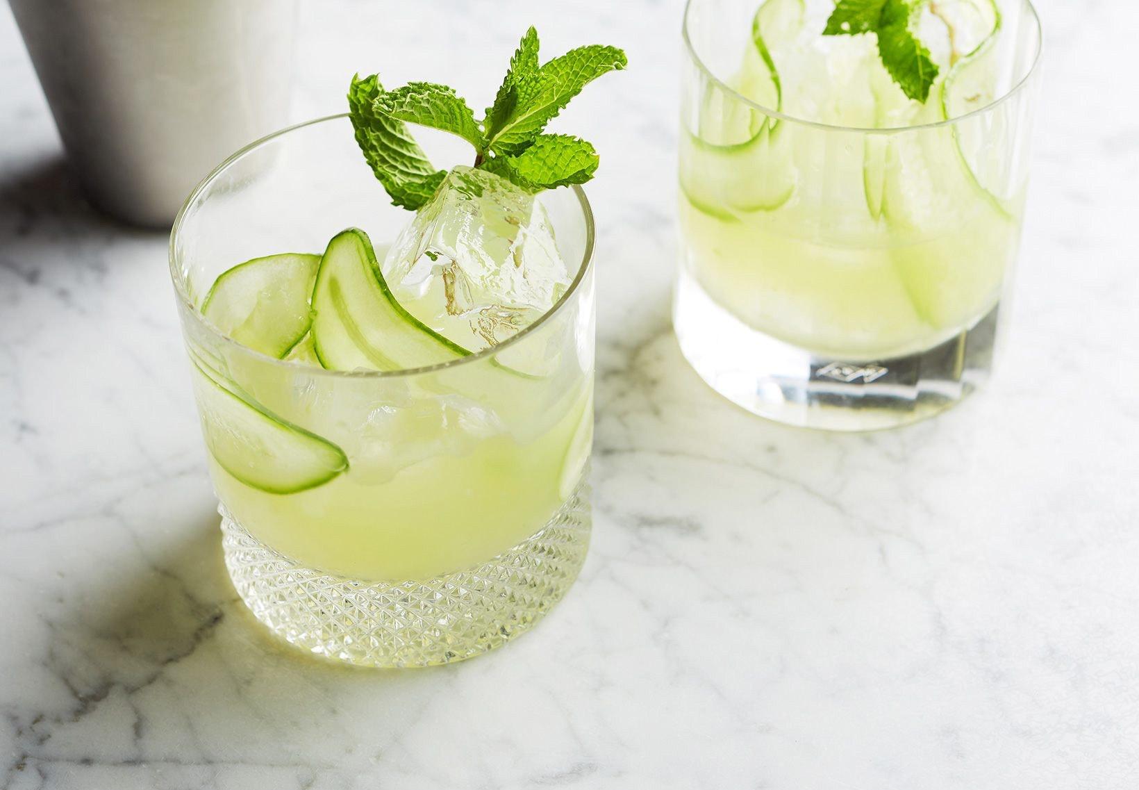 drink cocktail agurk mynte cucumber collins