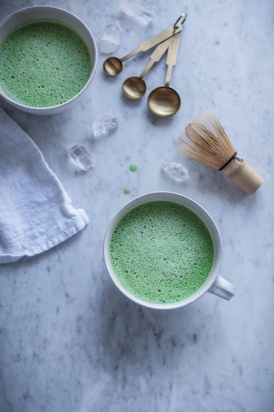 latte matcha latte kaffe kop