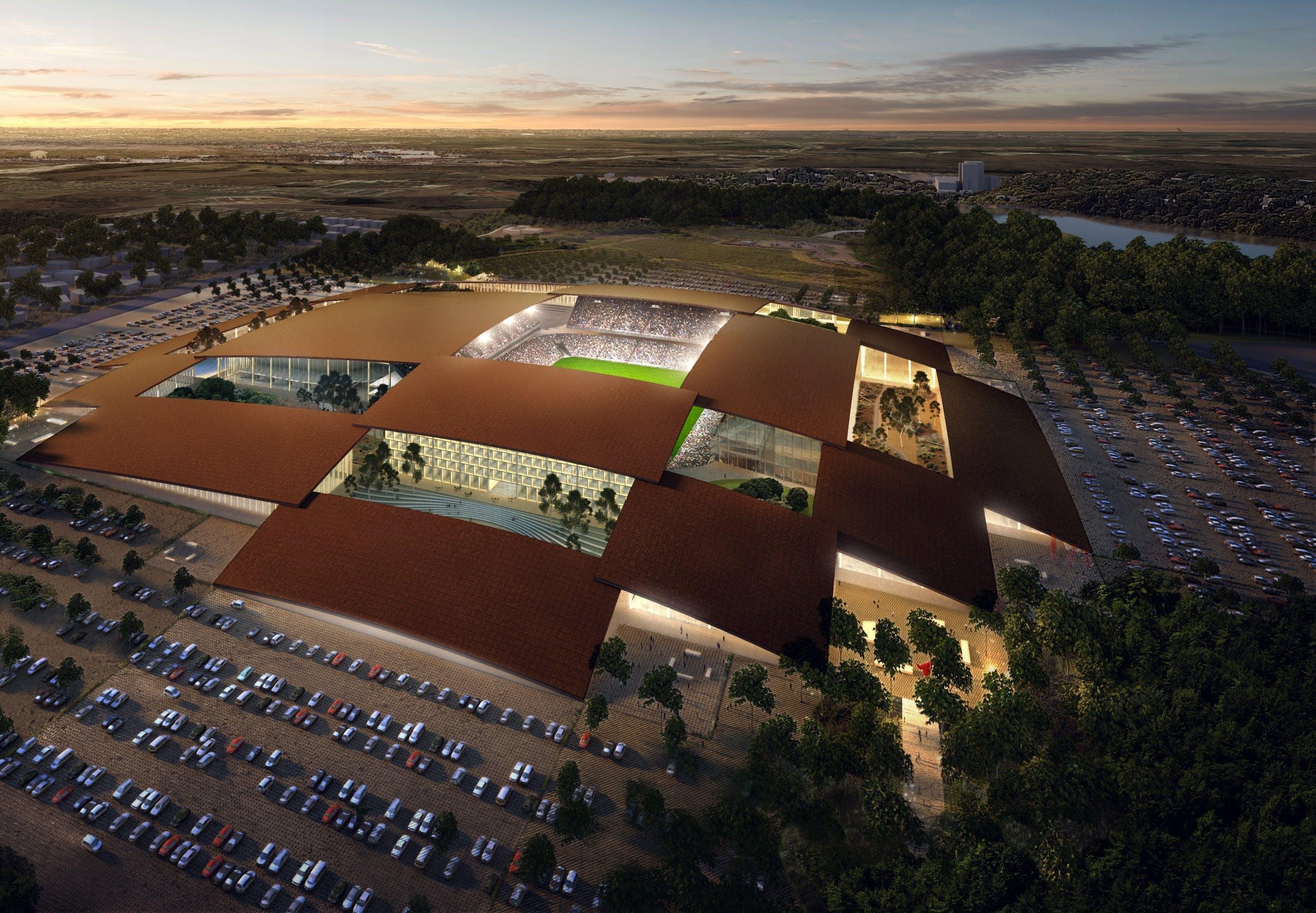 BIG arkitektur stadion