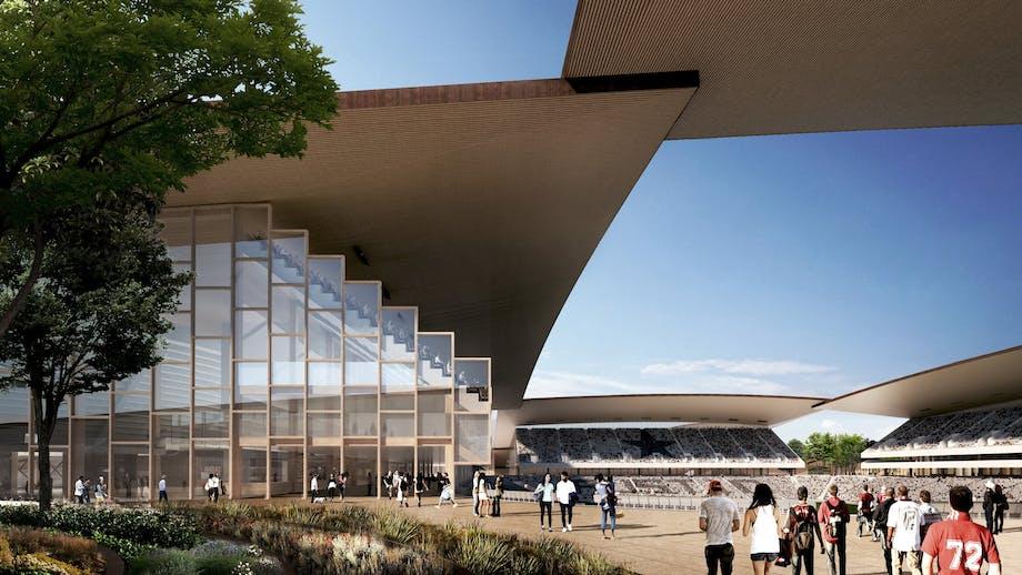 BIG arkitektur stadion omgivelser