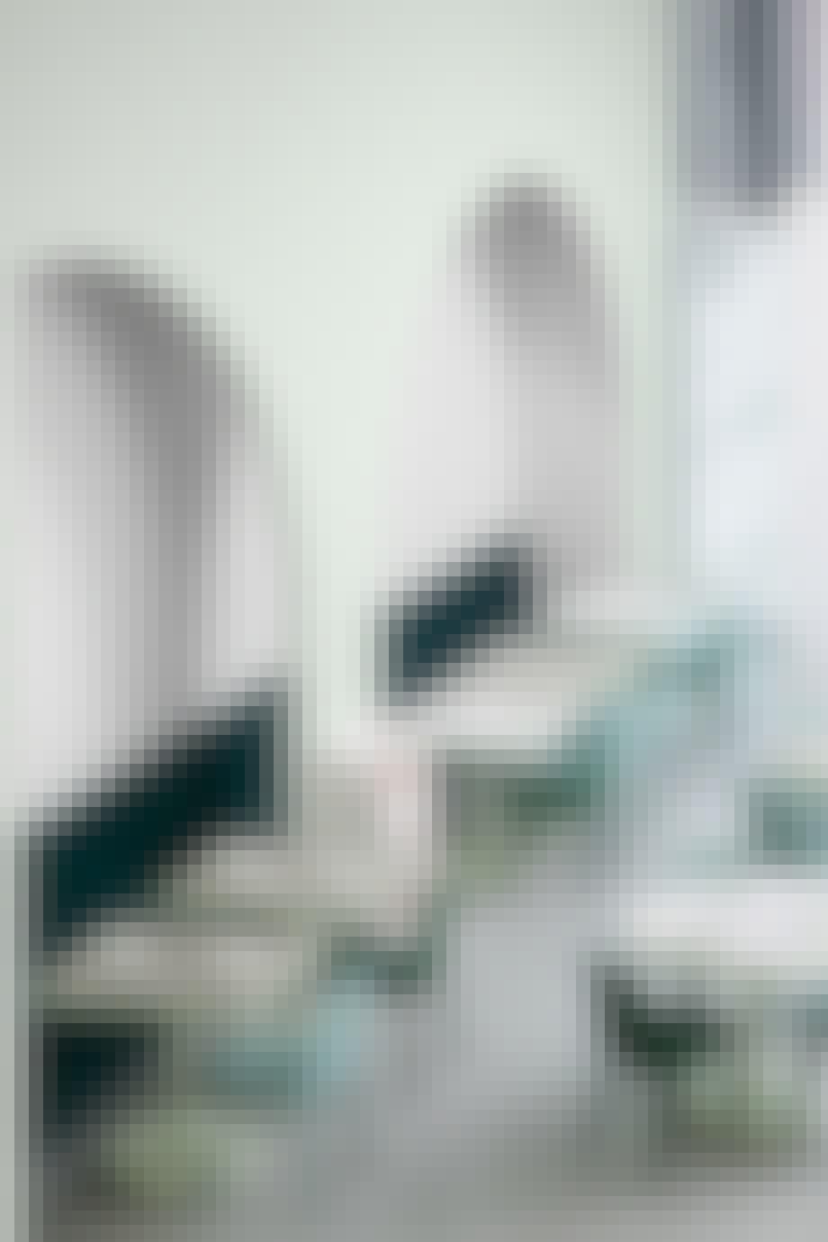 pastel farver feminin indrening cafe bord stol grøn mint