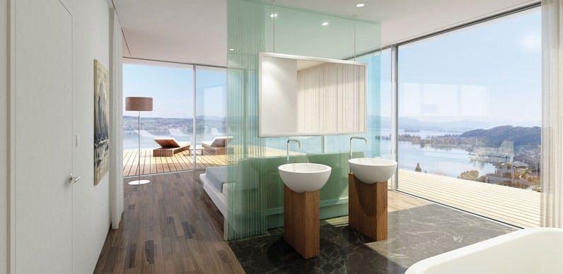 spaområde spa badeværelse roger federer luksushuse