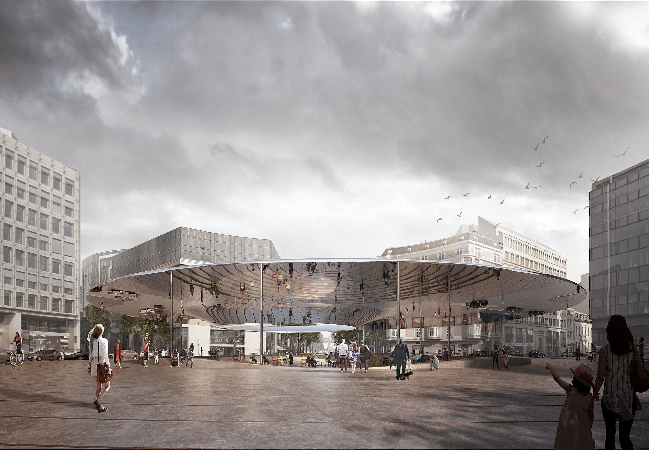 cobe bruxelle arkitektur arkitekt bygning