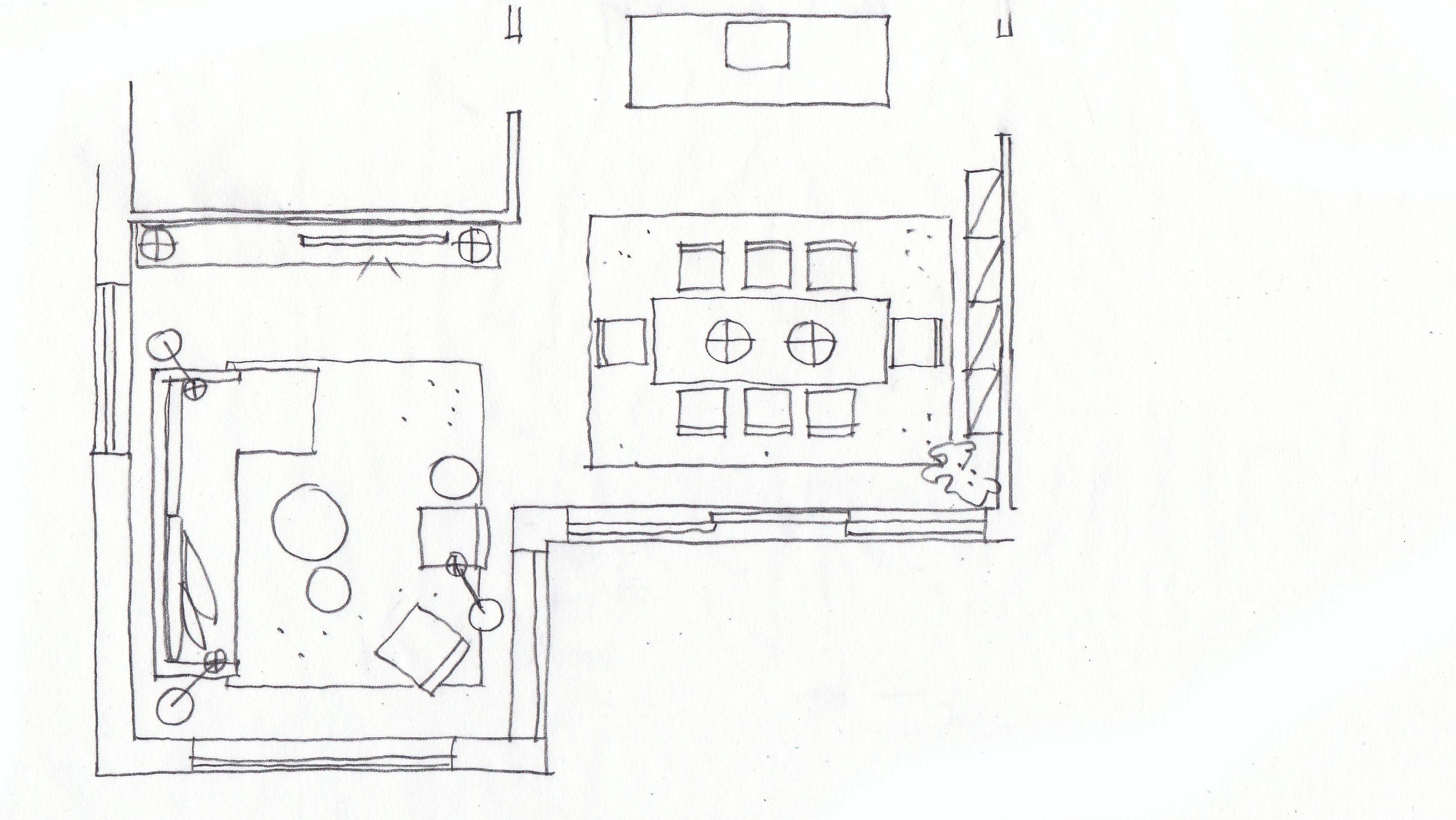 plantegning stue sofa tv