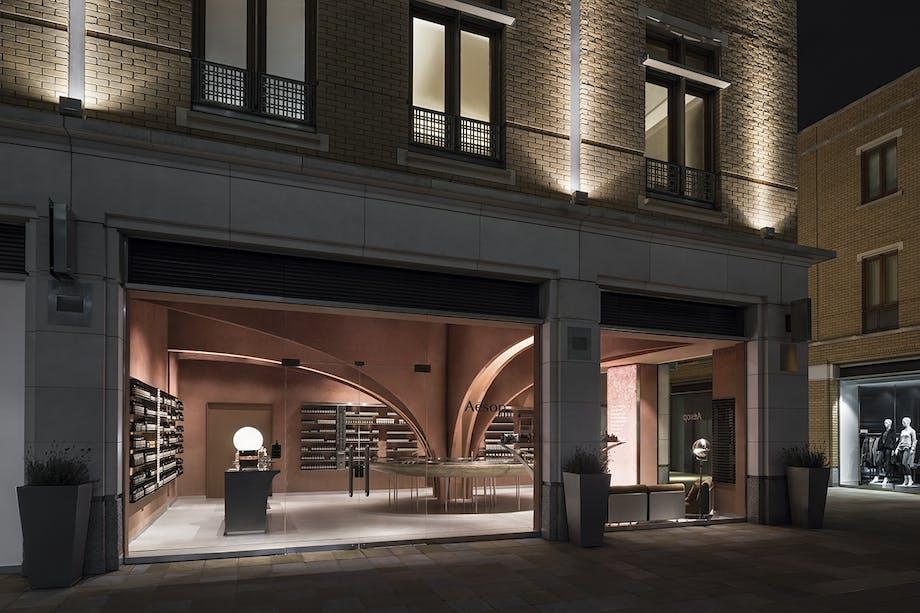 Aesop arkitektur showroom butiksinteriør snøhetta chelsea london facade