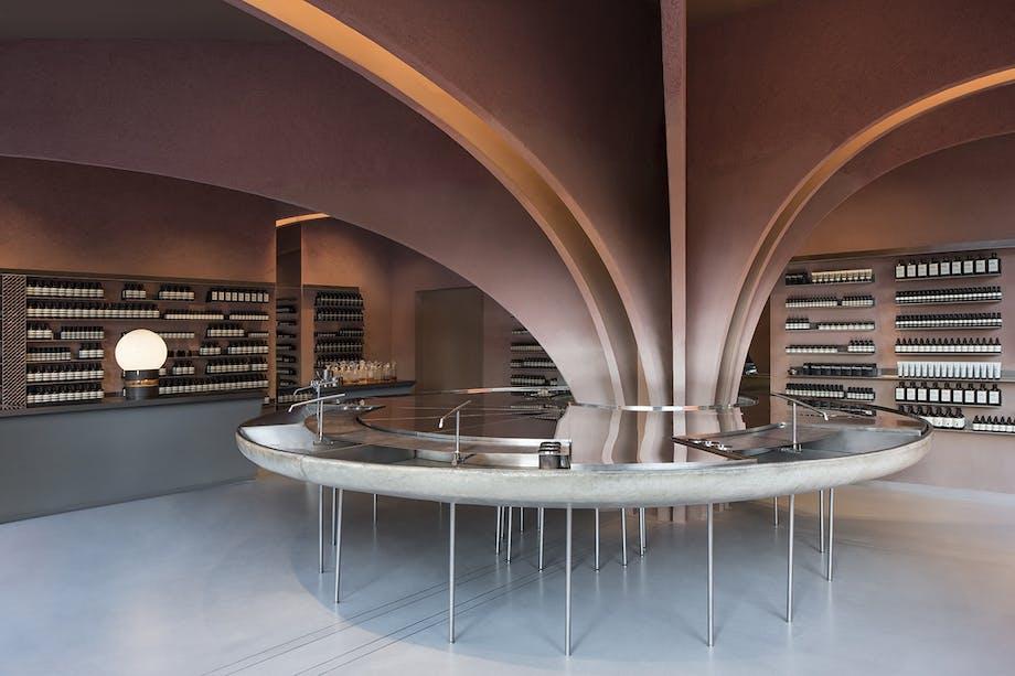 Aesop arkitektur showroom butiksinteriør snøhetta chelsea london