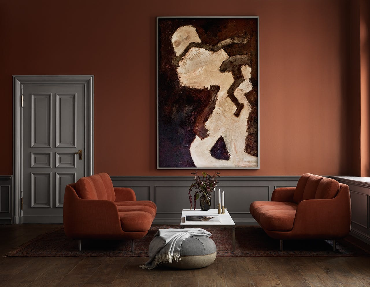 fritzhansen.com sofa i okker farve