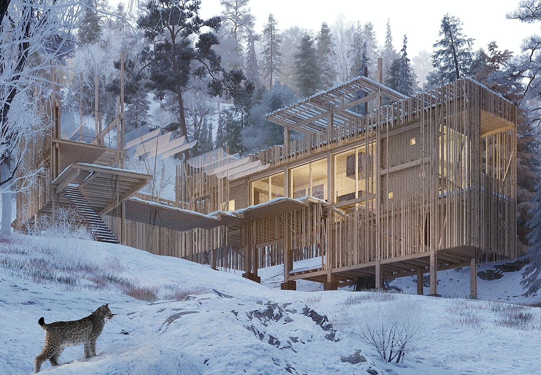 erik juul arkitektur canada vildmark puma