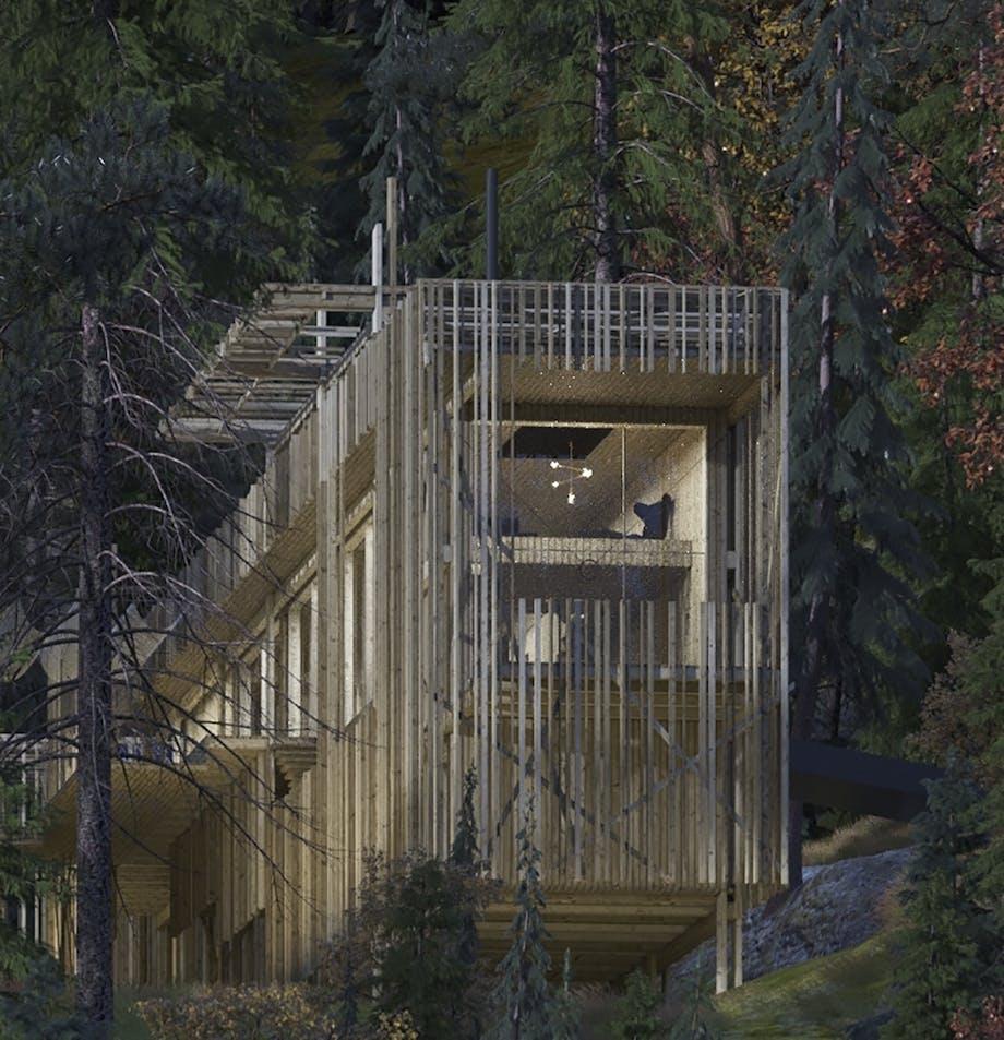 erik juul arkitektur canada vildmark puma midnat