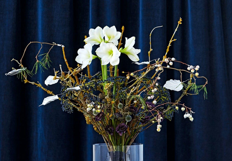 JULEBUKET hvide amaryllis