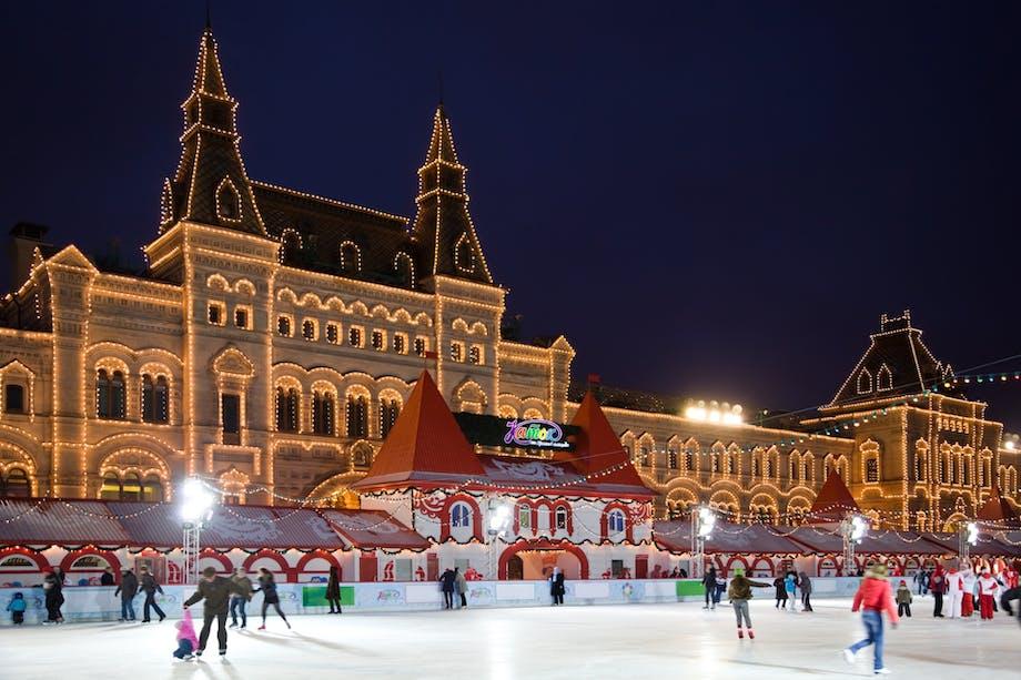 juleferie jule get away jul rejse moskva sne vinter den røde plads rusland