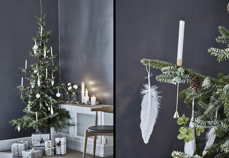 juletræ julepynt pynt til træet fjerpynt fjer