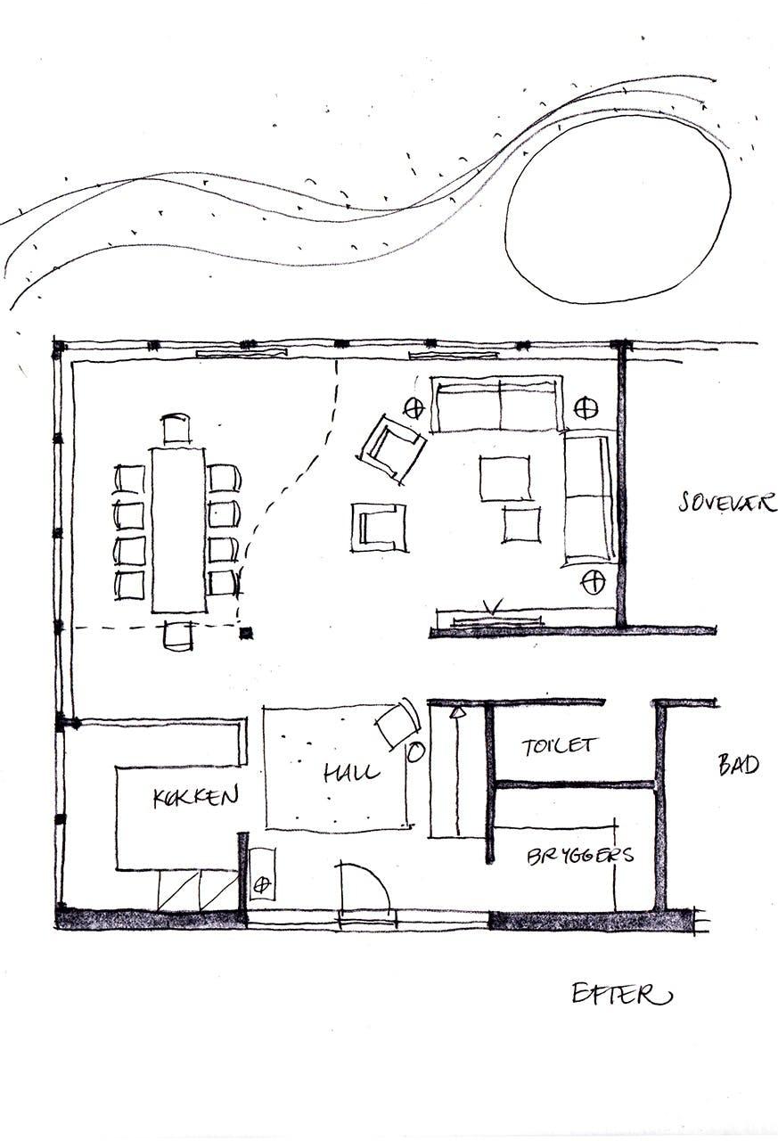lone barslund indretningsarkitekt ombygning indretningstips boligblog plantegning trappe efter