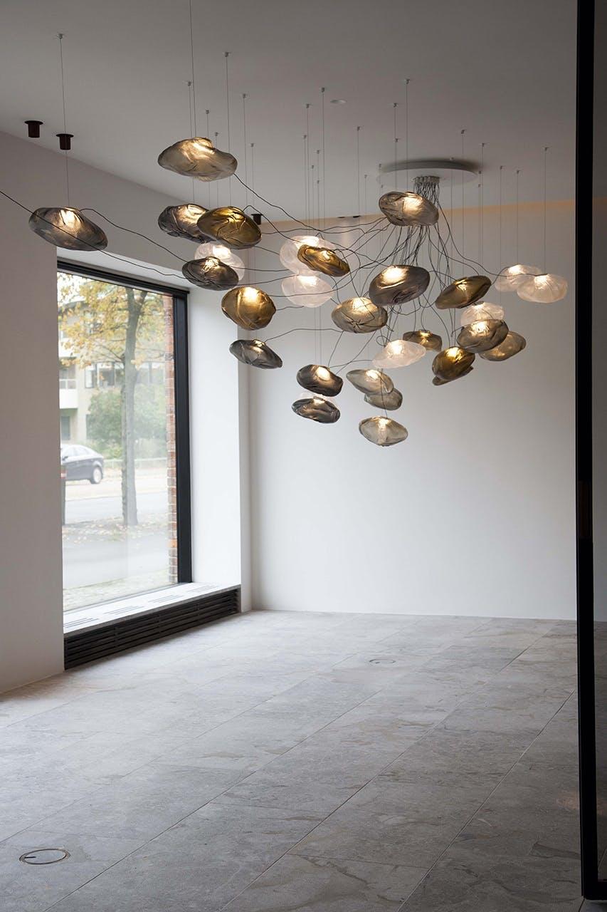 showroom legio rimadissio Viabizzuno henge indretning strandvejen glaskunst