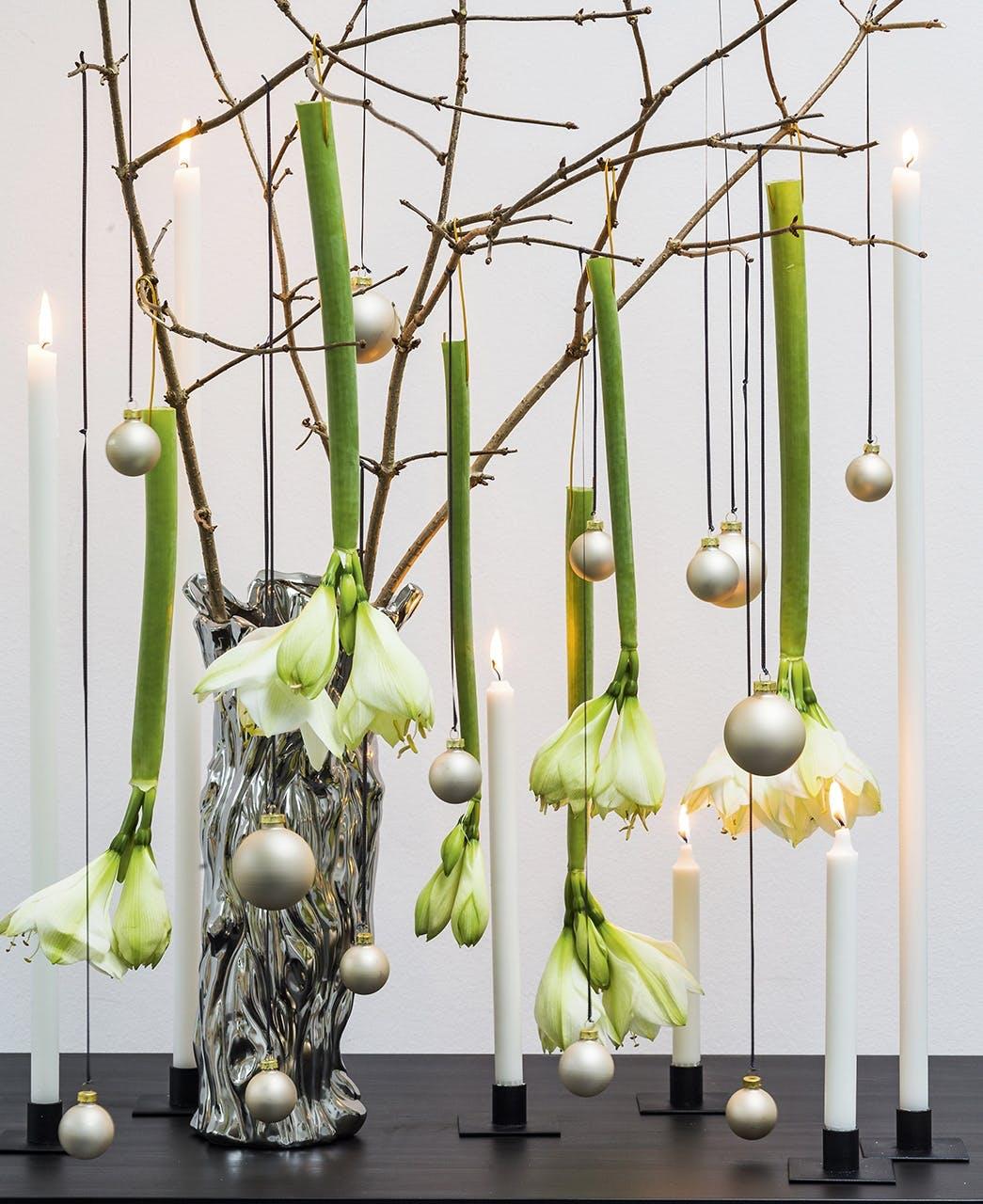 jul dekoration buket blomster annette von einem amaryllis julekugler