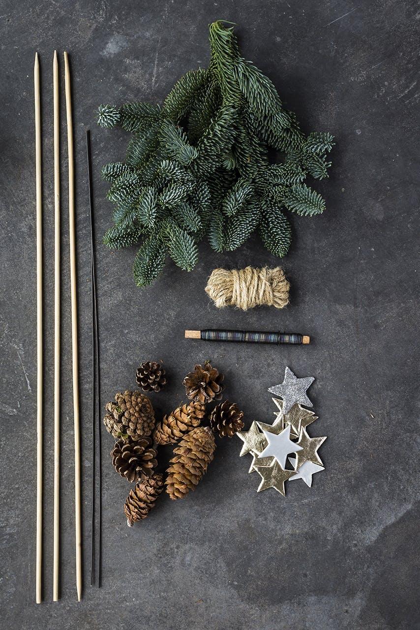 annette von einem jul dekoration til døren det skal du bruge