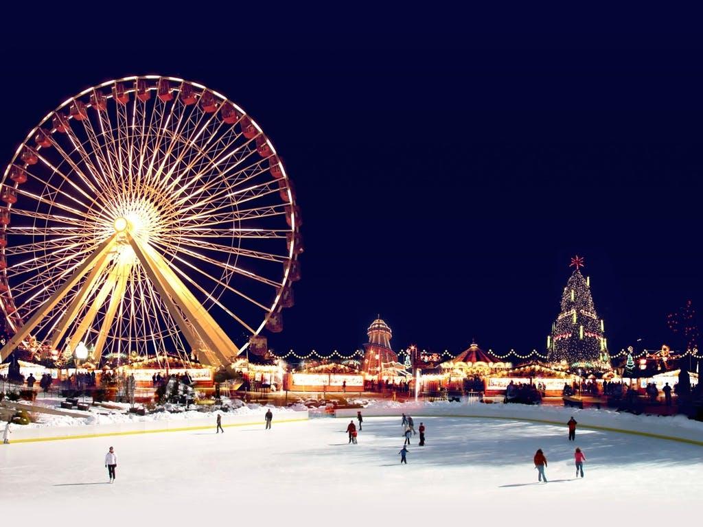 london jul england ferie shopping julemarked hyde park
