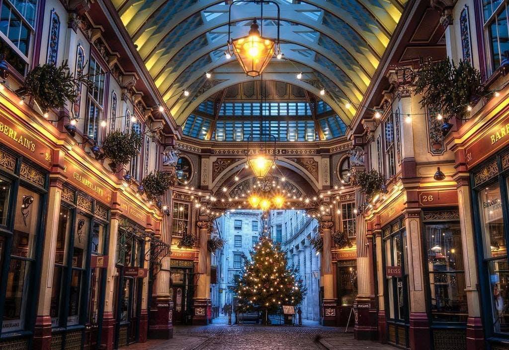 london jul england ferie shopping julemarked juletræ