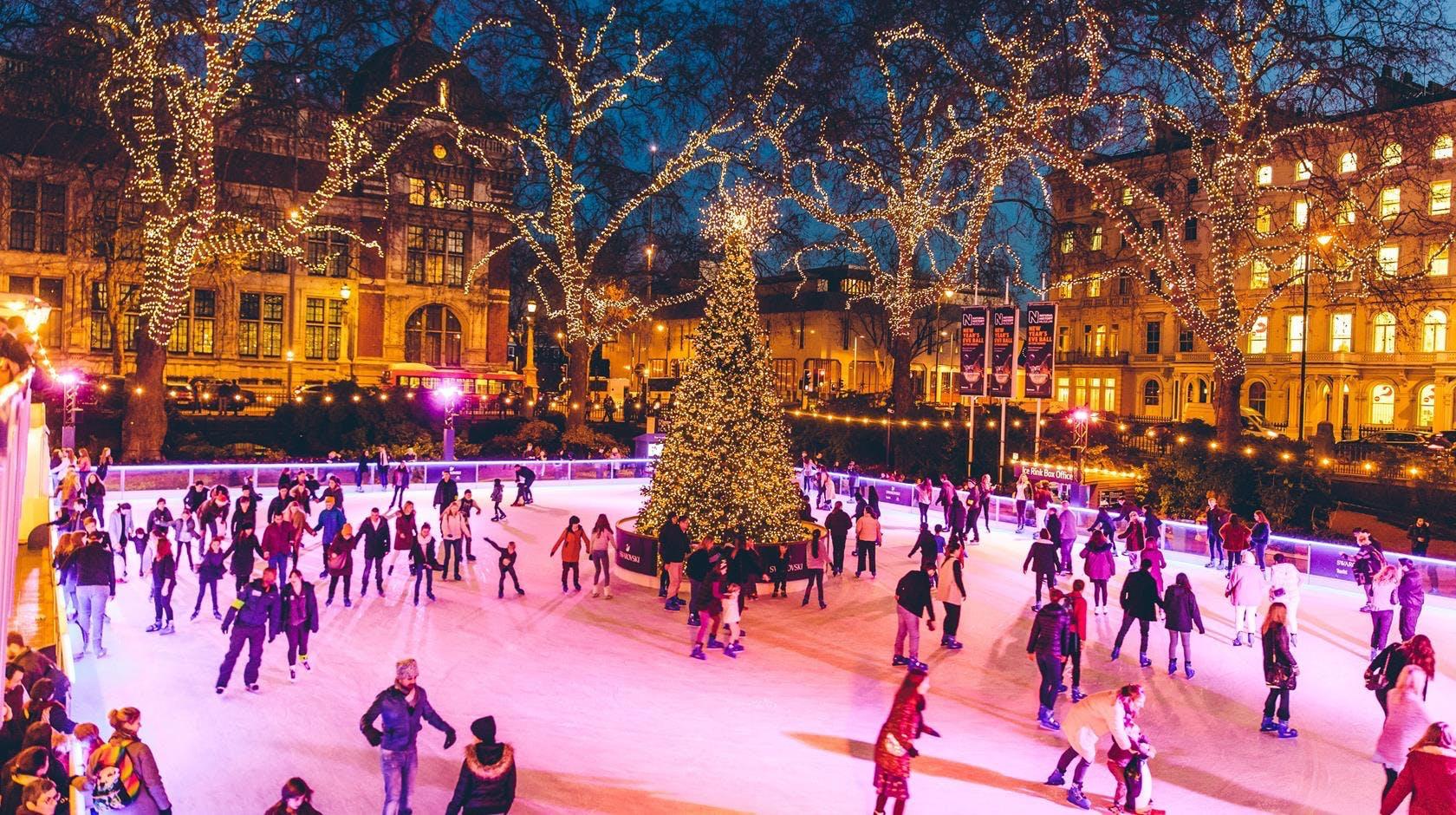 london jul england ferie shopping julemarked skøjtebane skøjtning