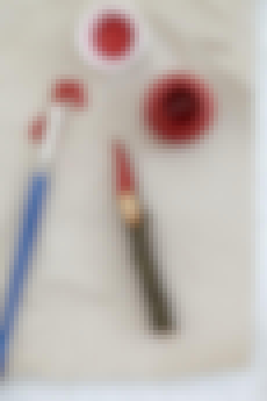 jule jul DIY gør det selv snit nisser pynt rød maling