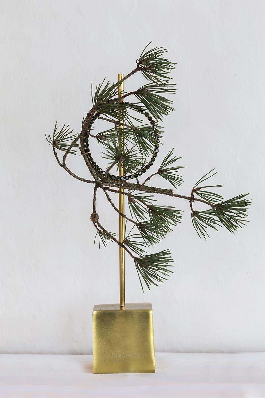 annette von einem juledekoration julepynt på stang troldfyr