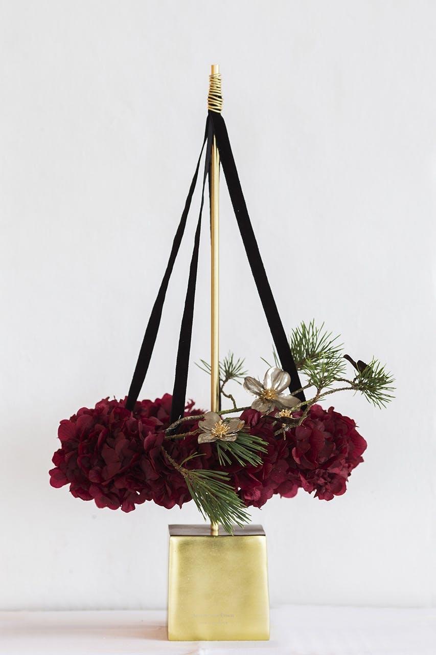 annette von einem juledekoration julepynt på stang blomster