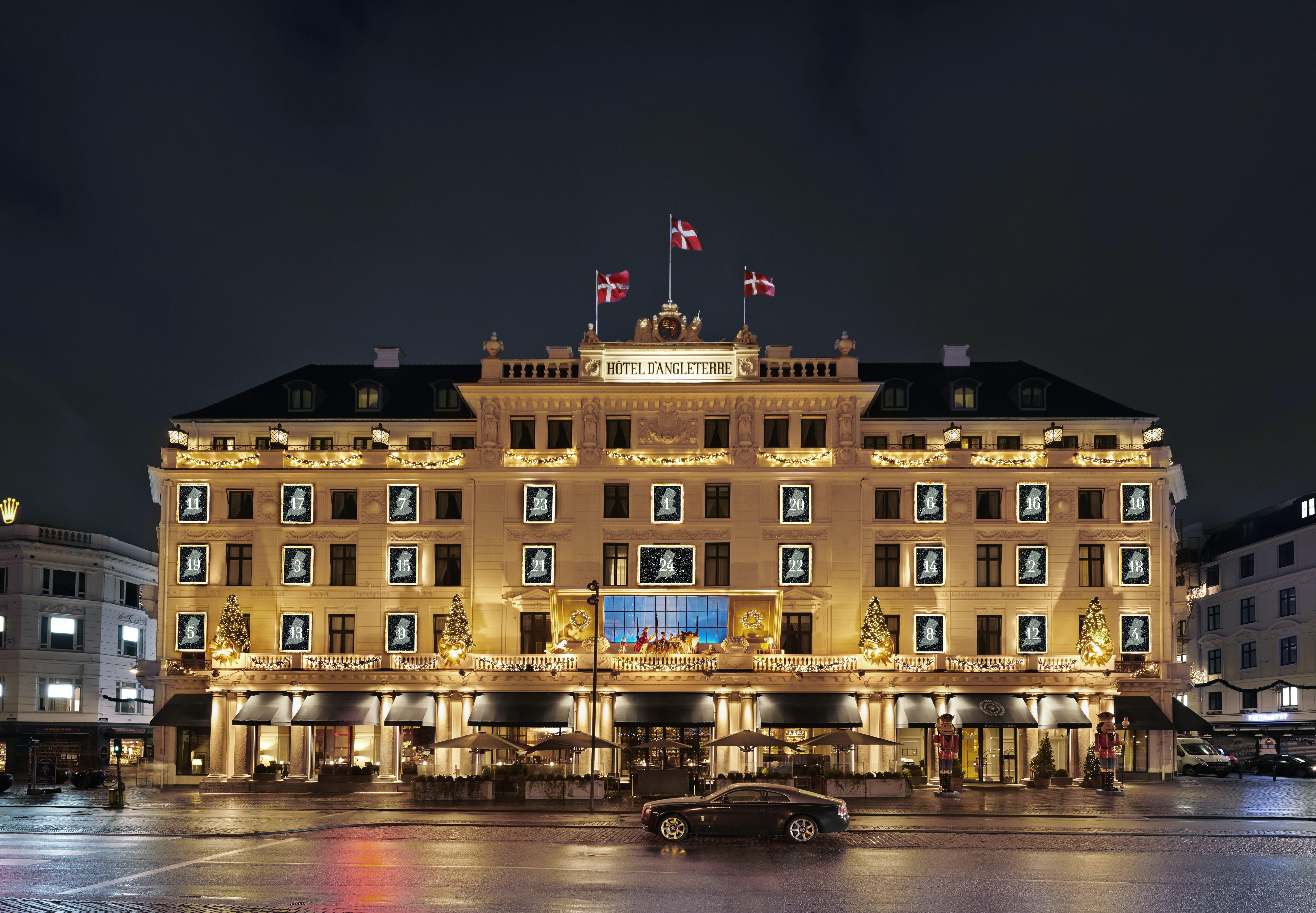 Hotel d'Angleterres julefacade 2017
