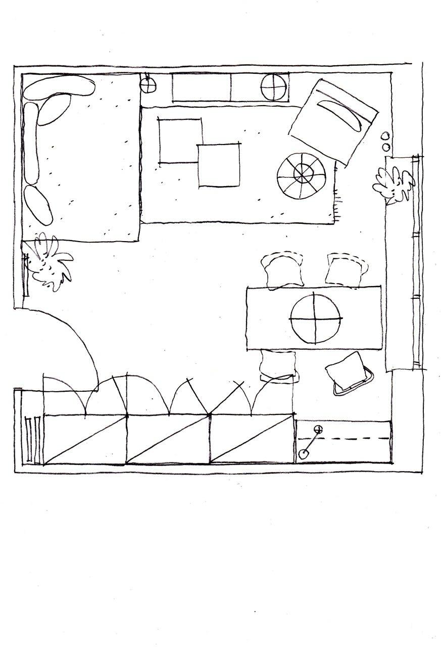 indretningstips kollegie værelse kompakt living