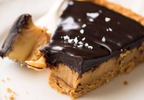 cheesecake med saltkaramel
