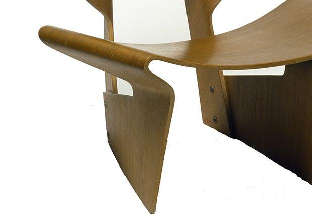 grete jalk bow chair møbelklassiker dansk design
