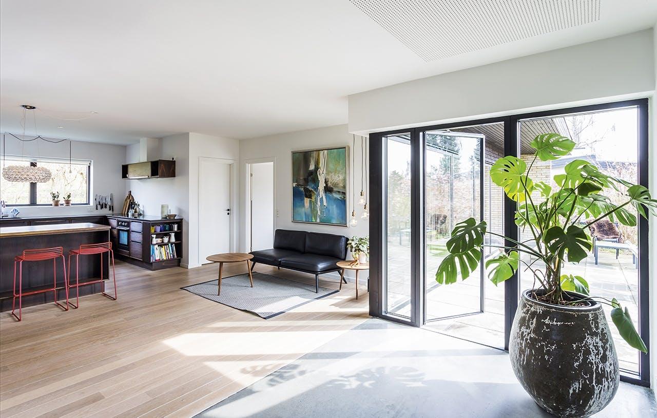 renovering af bolig parcelhus stue køkkenalrum
