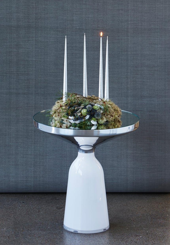 Elegant adventskrans lysdekoration