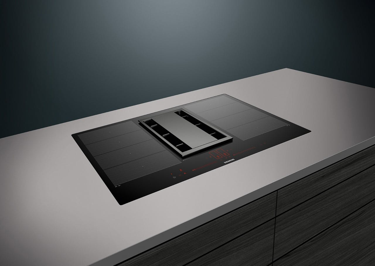 Siemens køkken i sort og grå