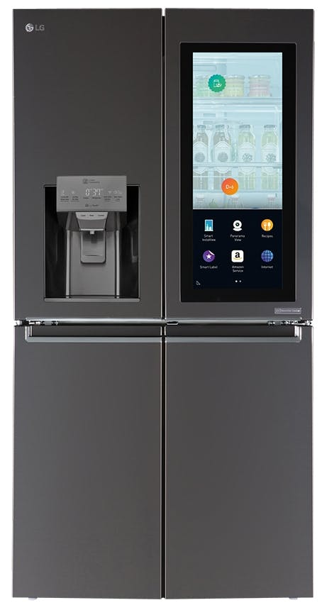 LG køleskab med spejlglaspanel