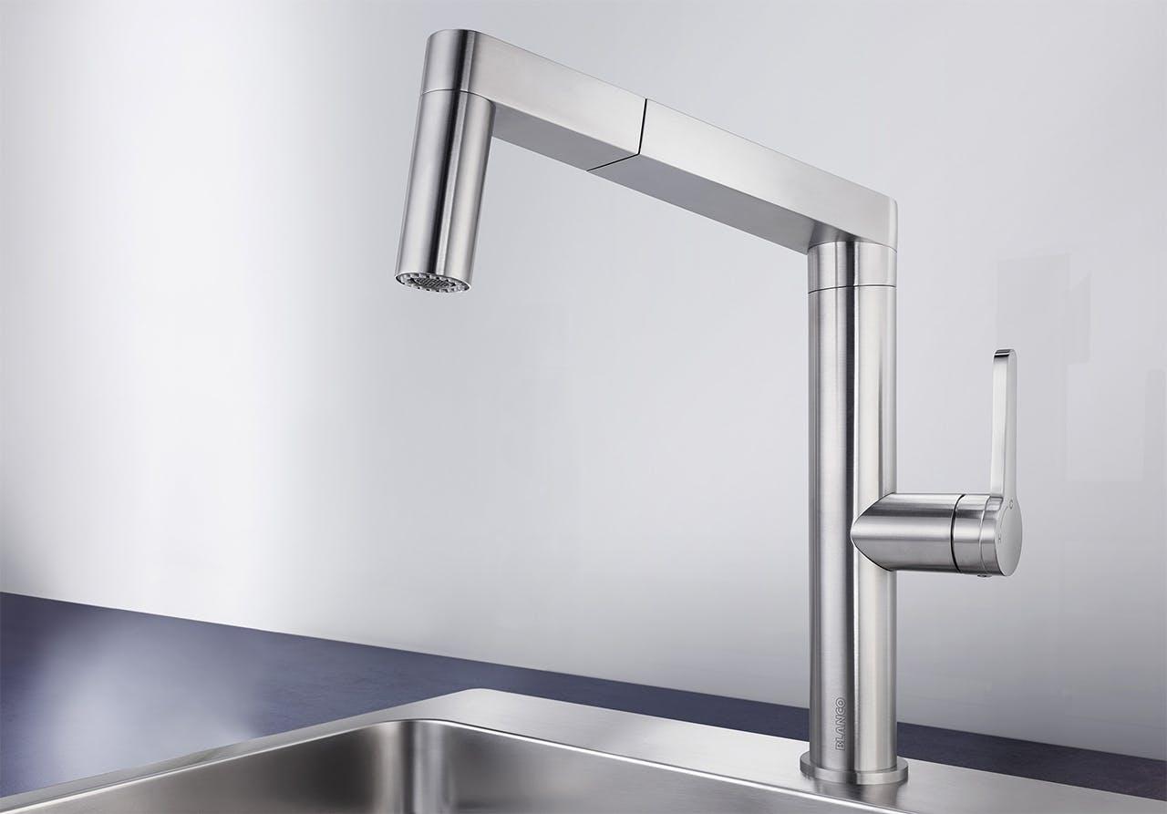 Blanco Panera køkkenvask i grå og sølv