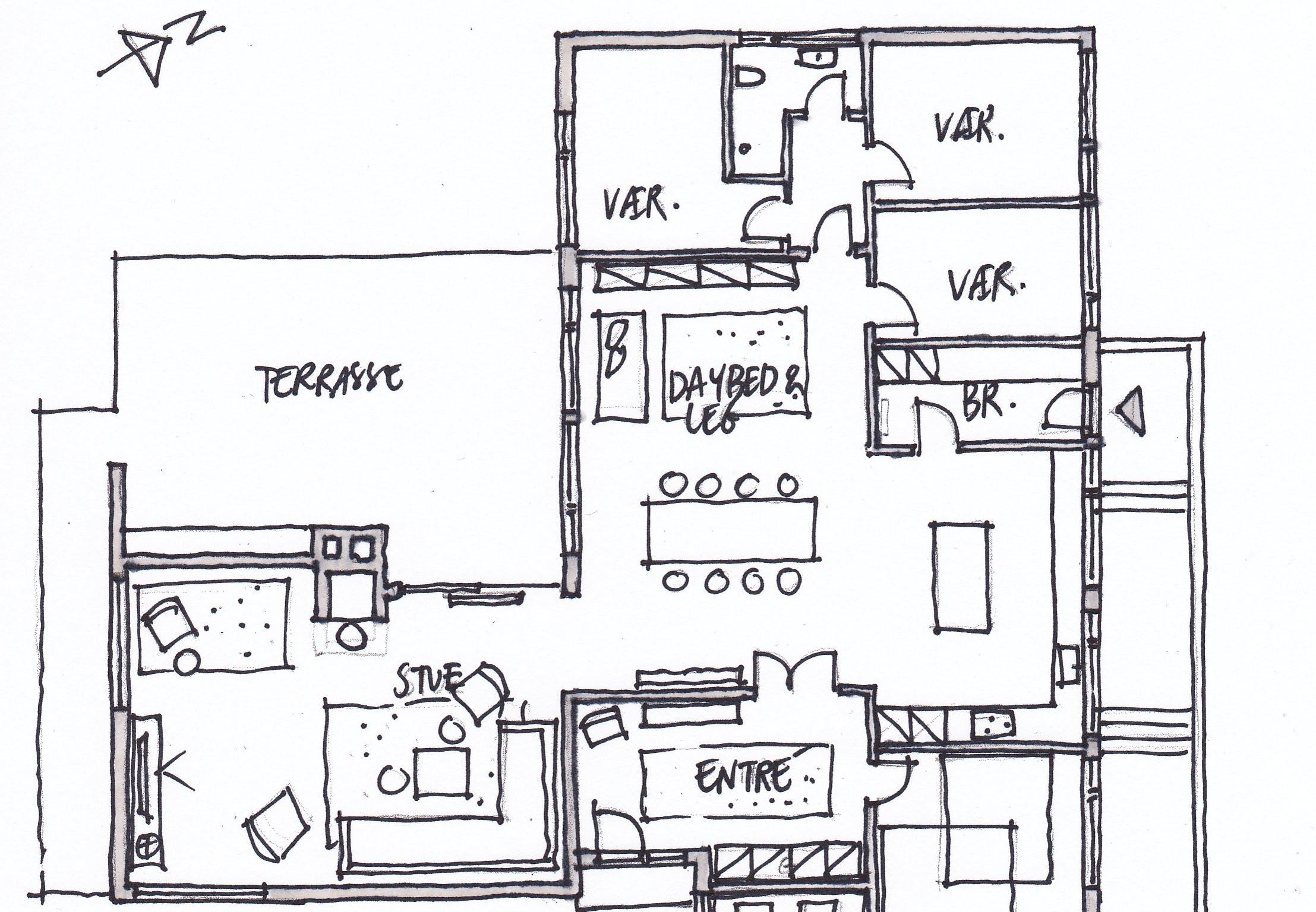 indretningstips ombygning etplanshus