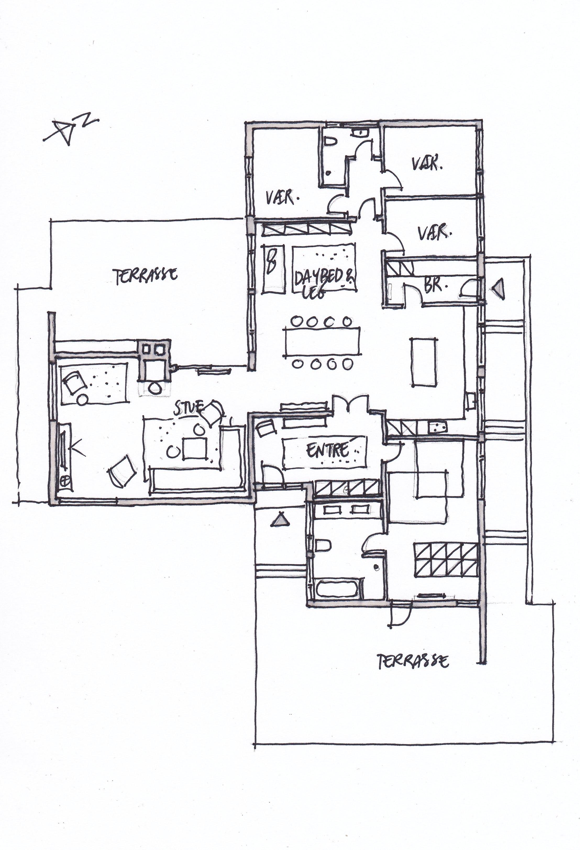 indretningstips ombygning etplanshus før og efter billede