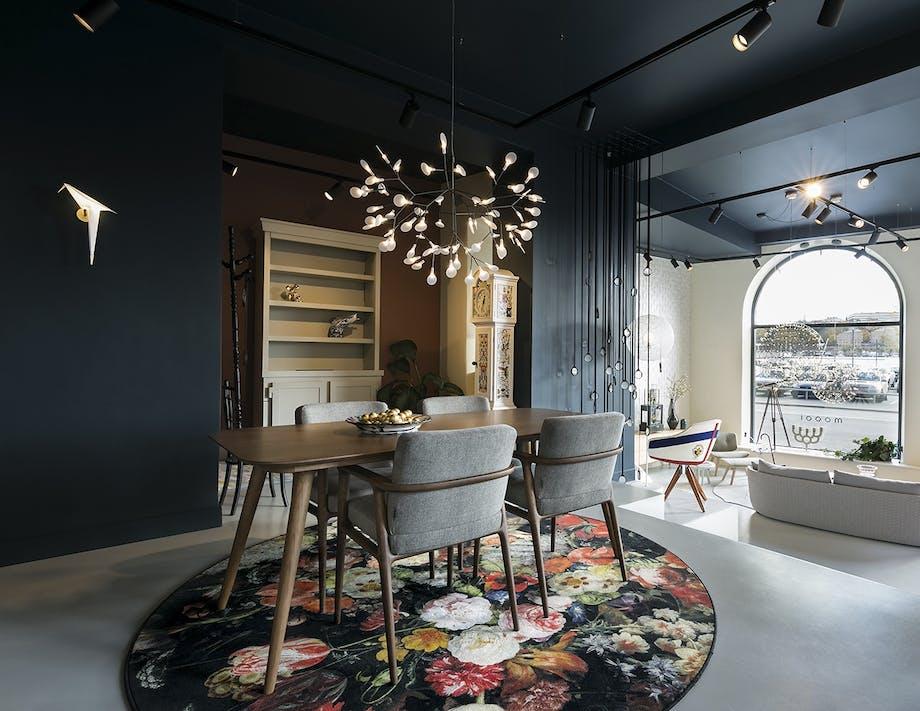 Moooi showroom stockholm åbning stueplan